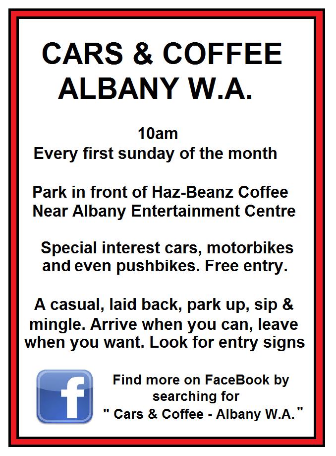 Cars and coffee Albany WA